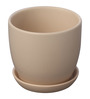 Gaia Beige Cermaic Glazed Table Top Planter