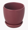 Gaia Pink Cermaic Glazed Table Top Planter