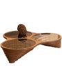 Galaxy Coffee Table (Made in Turkey) in Walnut Finish by CasaCraft