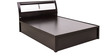 Geneva King Bed with Hydraulic Storage in Black & White Colour by Royal Oak