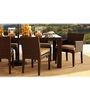 Cappuccino Six Seater Dining Set (1T + 4C + 2AC) by GEBE