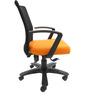 Geneva Desktop Marina Office Ergonomic Chair in Black & Orange Colour by Chromecraft