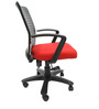 Geneva Desktop Marina Office Ergonomic Chair in Red Colour by Chromecraft