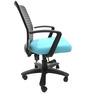 Geneva Desktop Marina Office Ergonomic Chair in Sky Blue Colour by Chromecraft