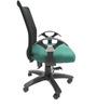 Geneva Desktop T Black Office Ergonomic Chair in Green Colour by Chromecraft