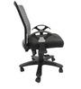 Geneva Desktop T Office Ergonomic Chair in Black Colour by Chromecraft