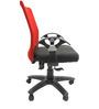 Geneva Desktop T Office Ergonomic Chair in Red & Black Colour by Chromecraft