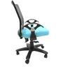 Geneva Desktop T Office Ergonomic Chair in Sky Blue Colour by Chromecraft