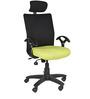 Geneva Desktop with Headrest in Green Colour by Chromecraft