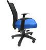 Geneva Desktop WW Black Office Ergonomic Chair in Dark Blue Colour by Chromecraft