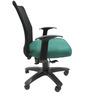 Geneva Desktop WW Black Office Ergonomic Chair in Green Colour by Chromecraft