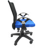 Geneva Office Ergonomic Chair in Black & Dark Blue Colour by Chromecraft