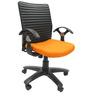 Geneva Office Ergonomic Chair in Orange Colour by Chromecraft