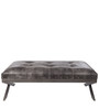 Genuine Leather Bench in Grey Colour by Three Sixty Degree