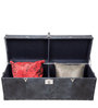Genuine Leather Storage Trunk in Greyish Blue Colour by Three Sixty Degree