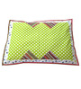 Geo Safari Print Baby Quilt Set in Green Colour by Raw Kottage