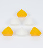 Ghidini Yellow and White Silicone Triangular Muffin Mold - Set of 6