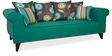Gilberto Three Seater Sofa with Cushions in Jade Colour by CasaCraft