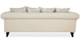 Gilberto Three Seater Sofa with Throw Cushions in Pale Taupe Colour by CasaCraft