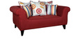 Gilberto Two Seater Sofa with Throw Cushions in Burnt Sienna Colour by CasaCraft
