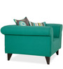 Gilberto One Seater Sofa with Throw Cushions in Jade Colour by CasaCraft