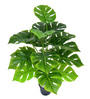 Ginni Bloom Green PVC & Synthetic Artificial Monstera Plant