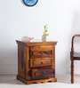 Godefroy Bed Side Table in Honey Oak Finish by Amberville