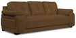 Gloria Three Seater Sofa in Chocolate Brown Color by Home City