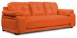 Gloria Three Seater Sofa in Orange Color by Home City
