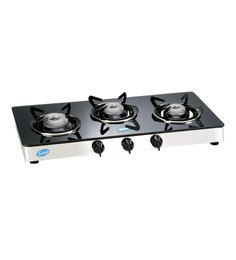 Glen Toughened Glass 3-burner Cooktop (Model: GL1033 GT)