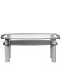 Glaze Rectangular Coffee Table in Silver Colour by Godrej Interio
