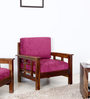 Glentana Single Seater Sofa in Provincial Teak Finish by Woodsworth