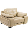 Gloria One Seater Sofa in Beige Colour by Home City