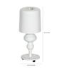 Glowbox White Metal Table Lamp