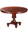 Glydon Round Four Seater Dining Table in Honey Oak Finish by Amberville