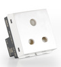 GM White 21.8 x 25.6 x 25.6 Inch Combined Socket - 2 Module (6Amp) - Set of 2