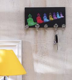 Go Hooked Colorful Buddha Designer Key Holder