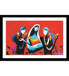 Go Hooked Multicolor MDF 14 X 0.4 X 20 Inch Framed Art Print
