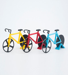 Godskitchen Bicycle-Shaped Pizza Stainless Steel & Plastic Pizza Cutter