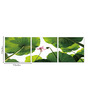 Go Hooked MDF 27 x 9 Inch 3-Panel Leaves Wall Decor