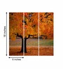 Go Hooked MDF 18 x 18 Inch 3-Panel Bright Tree Wall Decor