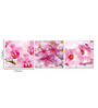 Go Hooked MDF 27 x 9 Inch 3-Panel Pink Flower Wall Decor