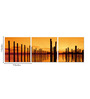 Go Hooked MDF 27 x 9 Inch 3-Panel Wooden Logs Wall Decor