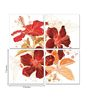 Go Hooked MDF 18 x 18 Inch 4-Panel Hibiscus in Bloom Wall Decor