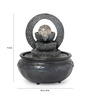 Go Hooked Brown Resin & Plastic Mill Table Indoor Fountain with Ball