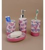 Go Hooked Stainless Steel Bathroom Set - Set of 4
