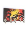 Go Hooked Multicolour MDF Dancing Women Key Holder