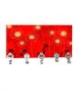 Go Hooked Red MDF Floral Lightweight Key Holder