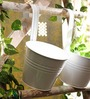 Go Hooked White Round Wall Planter - Set of Two