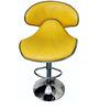 Goda Cushioned Yellow Color Bar Chair by VJ Interior